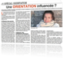 Article orientation influencée